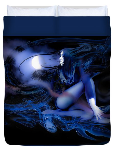 Fran's Ecliptic Moon Duvet Cover