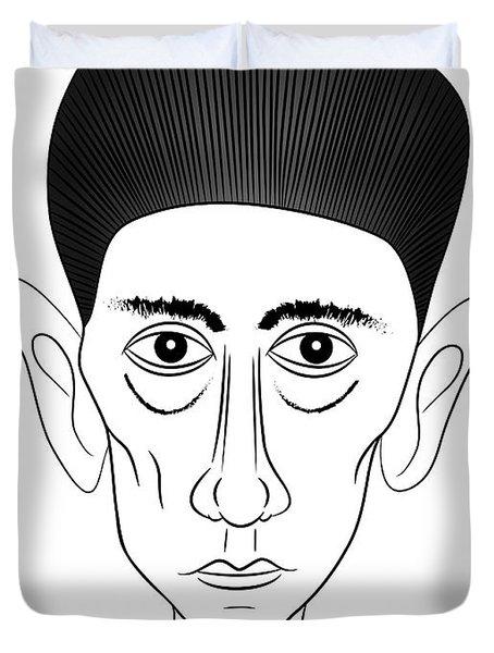 Franz Kafka Duvet Cover by Michal Boubin