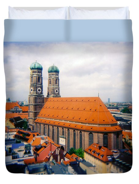 Frauenkirche Munich  Duvet Cover by Kevin Smith