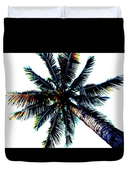 Frazzled Palm Tree Duvet Cover