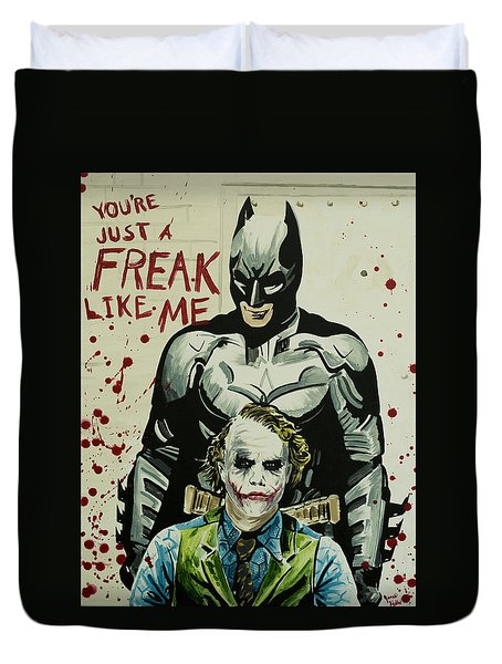 Freak Like Me Duvet Cover by James Holko
