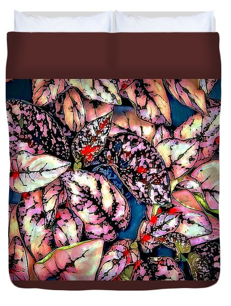 Duvet Cover featuring the digital art Freckle Face by Pennie  McCracken
