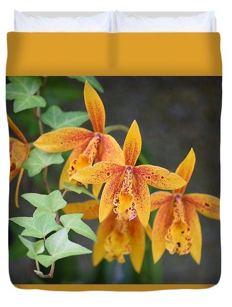 Duvet Cover featuring the photograph Freckled Flora by Deborah  Crew-Johnson