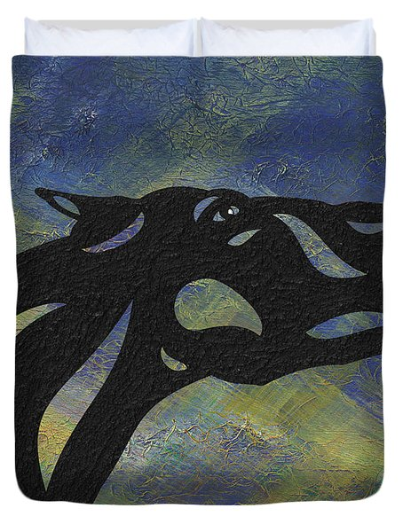 Fred - Abstract Horse Duvet Cover