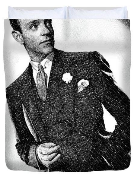 Fred Astaire, Legend By Js Duvet Cover