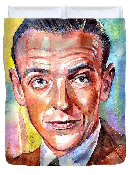 Fred Astaire Painting Duvet Cover
