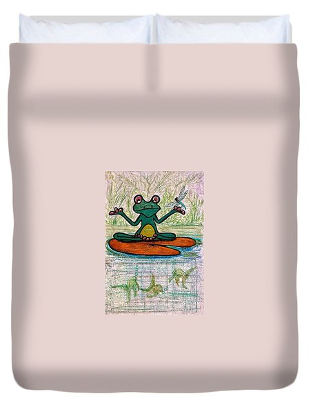 Fred The Frog With Friends Duvet Cover