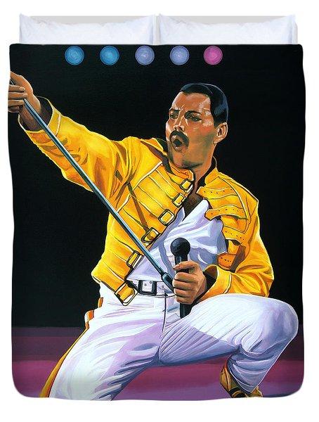 Freddie Mercury Live Duvet Cover