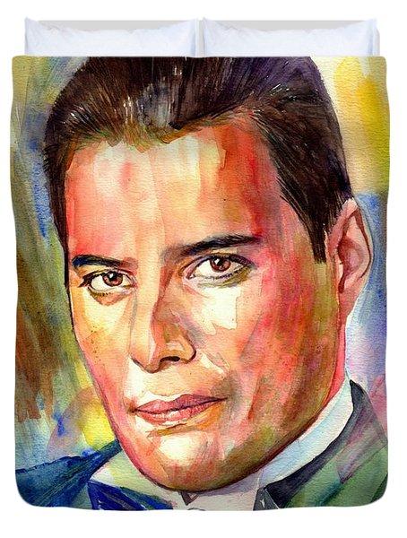 Freddie Mercury Painting Duvet Cover
