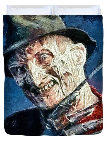 Freddy Kruegar Duvet Cover by Joe Misrasi