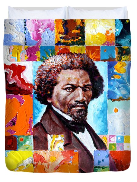 Frederick Douglass Duvet Cover by John Lautermilch