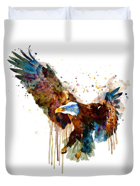 Free And Deadly Eagle Duvet Cover
