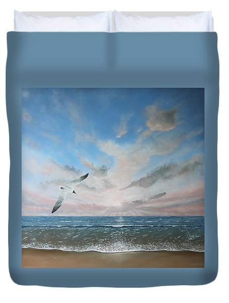 Free As A Bird Duvet Cover by Paul Newcastle