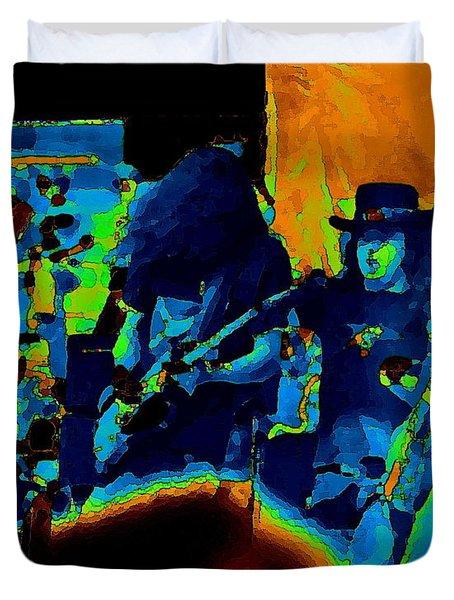 Free Bird Pastel Oakland 1 Duvet Cover