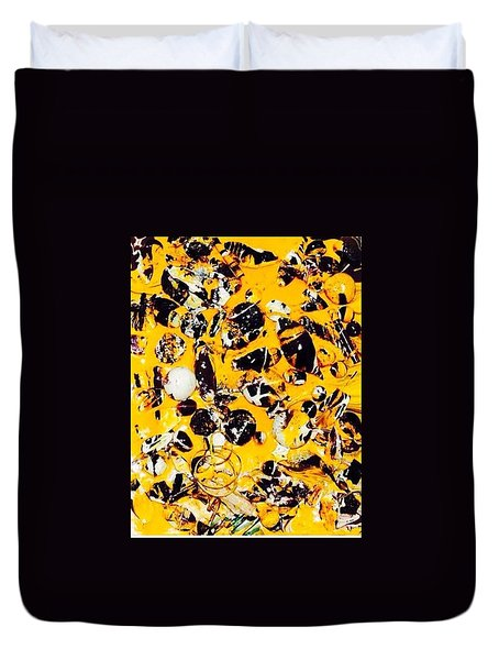 Duvet Cover featuring the painting Free Expression by Inga Kirilova