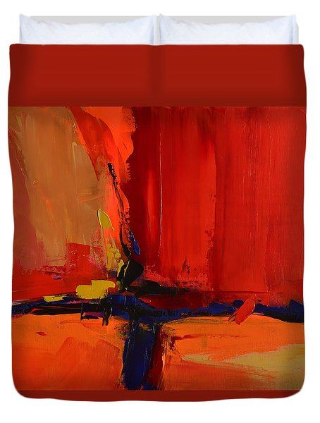 Duvet Cover featuring the painting Free Mind - Art By Elise Palmigiani by Elise Palmigiani