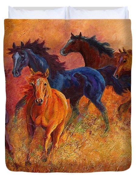 Free Range - Wild Horses Duvet Cover