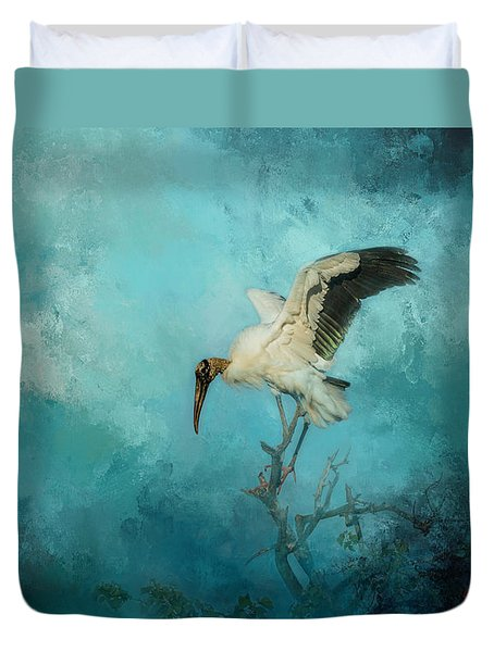 Duvet Cover featuring the photograph Free Will by Marvin Spates