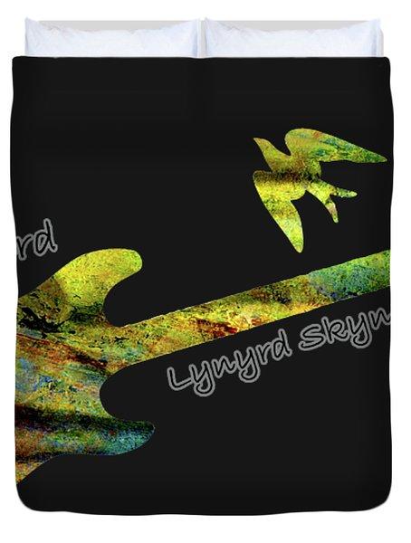 Freebird Lynyrd Skynyrd Ronnie Van Zant Duvet Cover