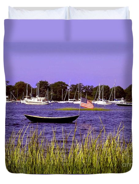 Freedom Bristol Harbor Rhode Island Duvet Cover