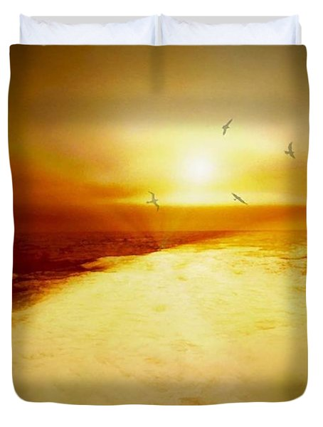 Freedom Escape Duvet Cover by Linda Sannuti