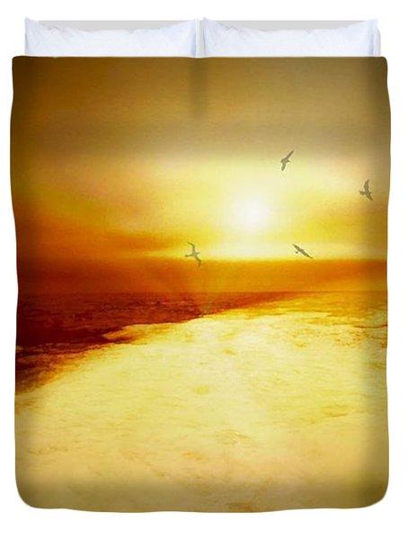 Freedom Escape Duvet Cover by Linda Sannuti