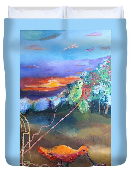 Freedom Is Subjective Duvet Cover by Geeta Biswas