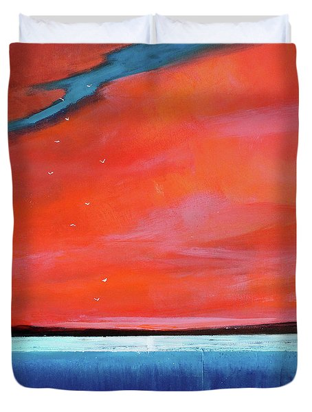 Freedom Journey Duvet Cover by Toni Grote