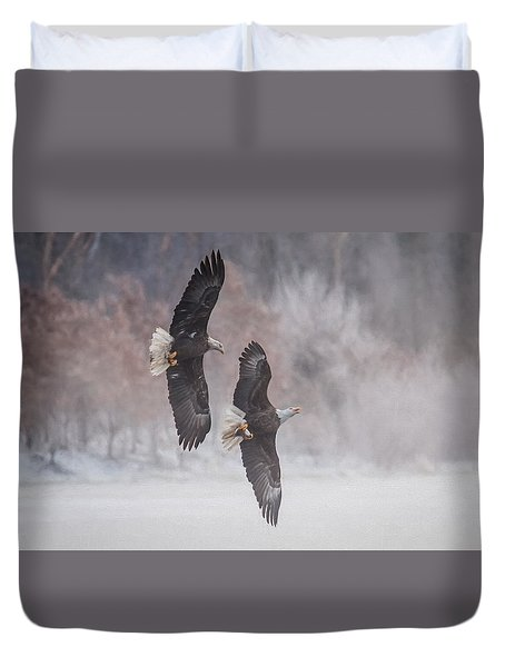 Duvet Cover featuring the photograph Freedom by Kelly Marquardt