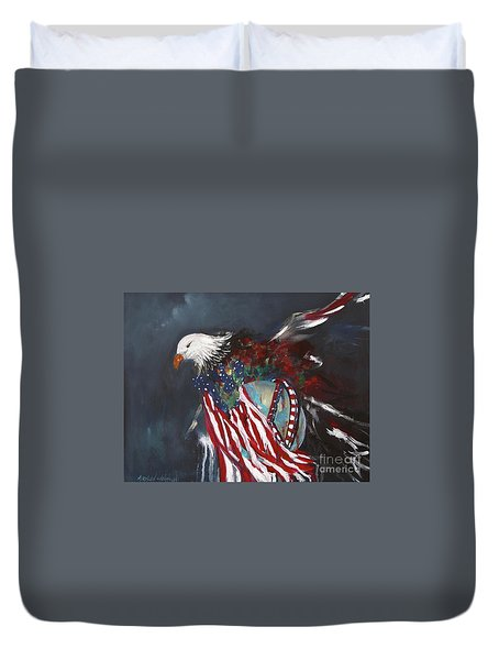Freedom Rings Duvet Cover
