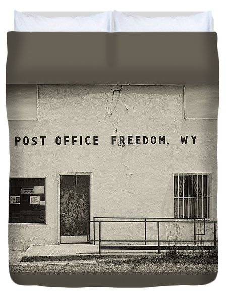 Duvet Cover featuring the photograph Freedom Wyoming by Hugh Smith