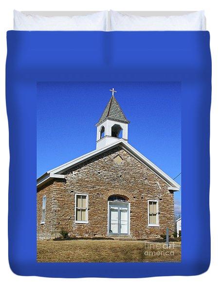 Freedonia Baptist Church Duvet Cover