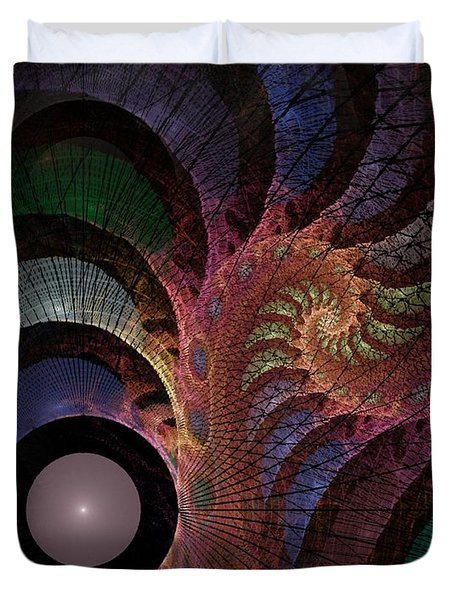 Duvet Cover featuring the digital art Freefall - Fractal Art by NirvanaBlues