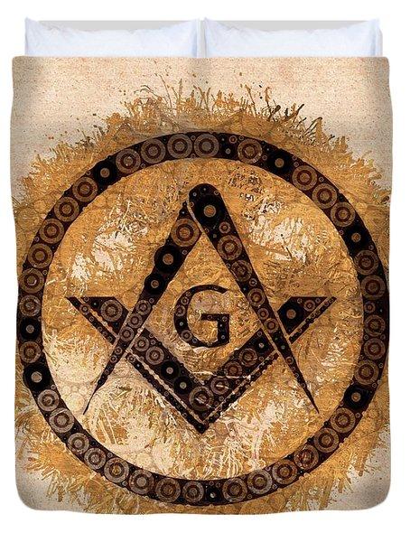 Freemason, Mason, Masonic, Lodge, Symbol Duvet Cover
