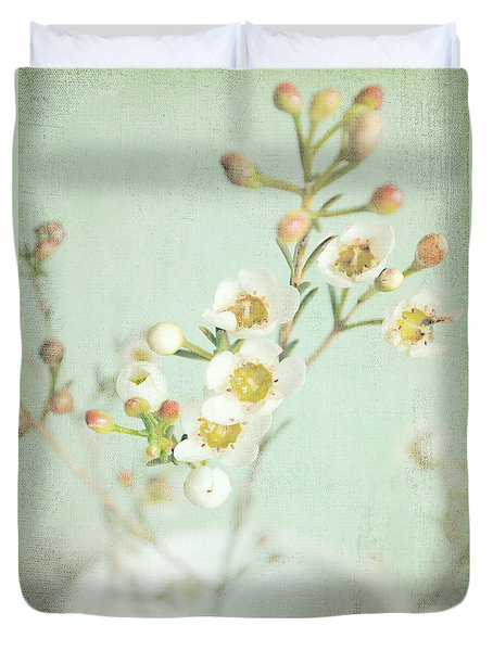 Freesia Blossom Duvet Cover by Lyn Randle