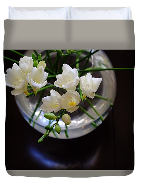 Freesia In Bloom Duvet Cover