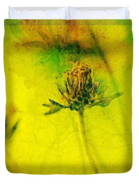 Freesia Yellow Flower  Duvet Cover