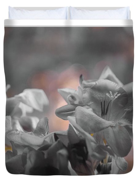 Freesia'a Without Colour Duvet Cover