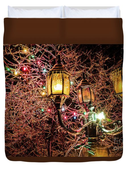 Christmas Lamp Duvet Cover
