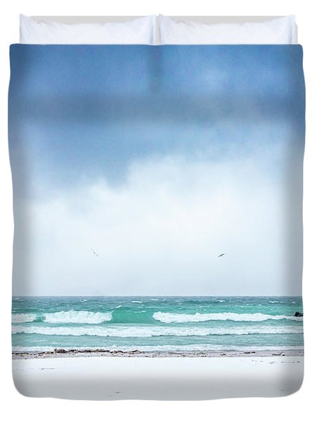 Freezing Storm Duvet Cover