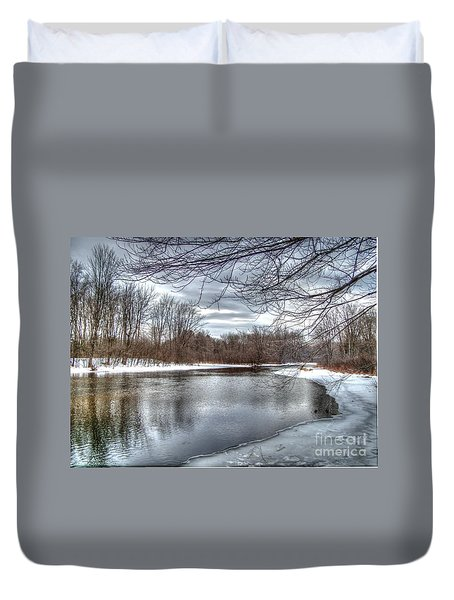 Freezing Up Duvet Cover by Betsy Zimmerli