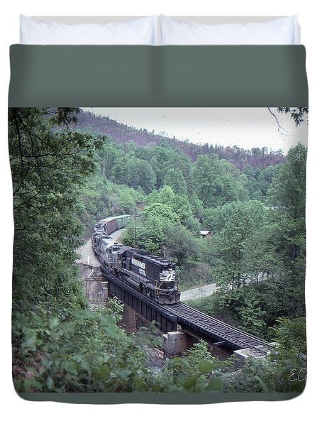 Freight At Mill Creek Duvet Cover
