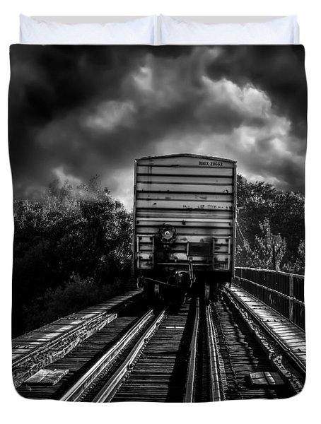 Freight Train Blues Duvet Cover by Bob Orsillo