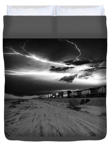 Freight Train Lighting Duvet Cover