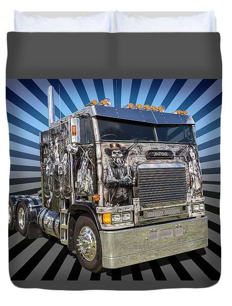 Duvet Cover featuring the photograph Freightliner by Keith Hawley