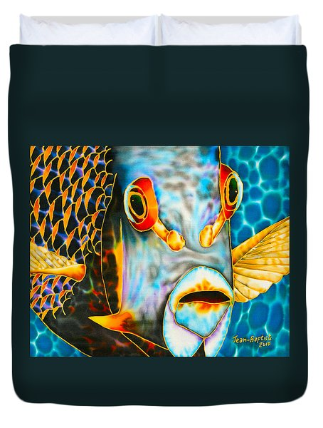 French Angelfish Face Duvet Cover