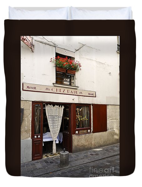 French Bistro Duvet Cover