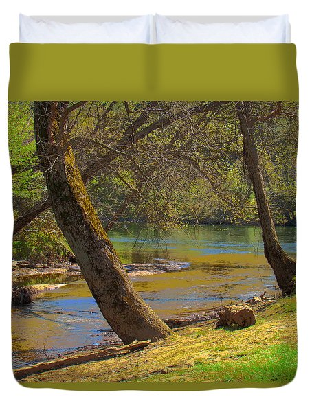French Broad Tributary Duvet Cover