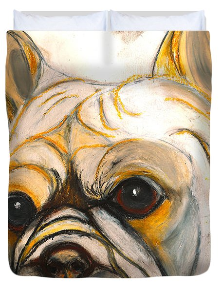French Bulldog Drawing Duvet Cover