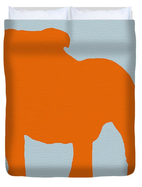 French Bulldog Orange Duvet Cover